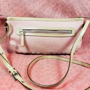 Authentic Burberry Pink Canvas Crossbody Bag
